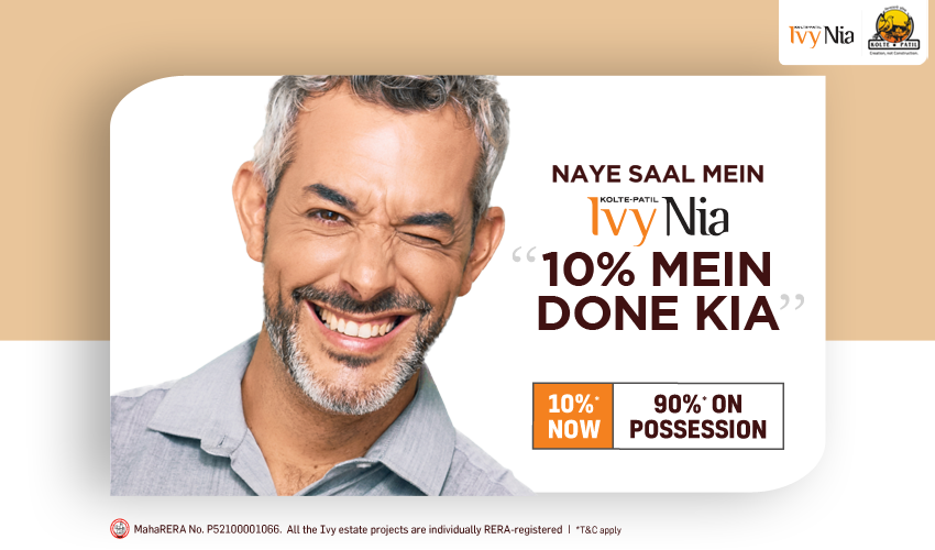Naye Saal Mein ideal home at Ivy Nia 10% Mein Done Kiya, Rest on Possession!