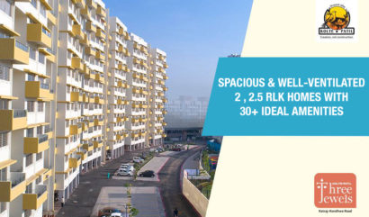Book a Spacious & Well-Ventilated 2, 2.5 RLK Homes with 30+ Ideal Amenities that takes Care of you and your family at Three Jewels