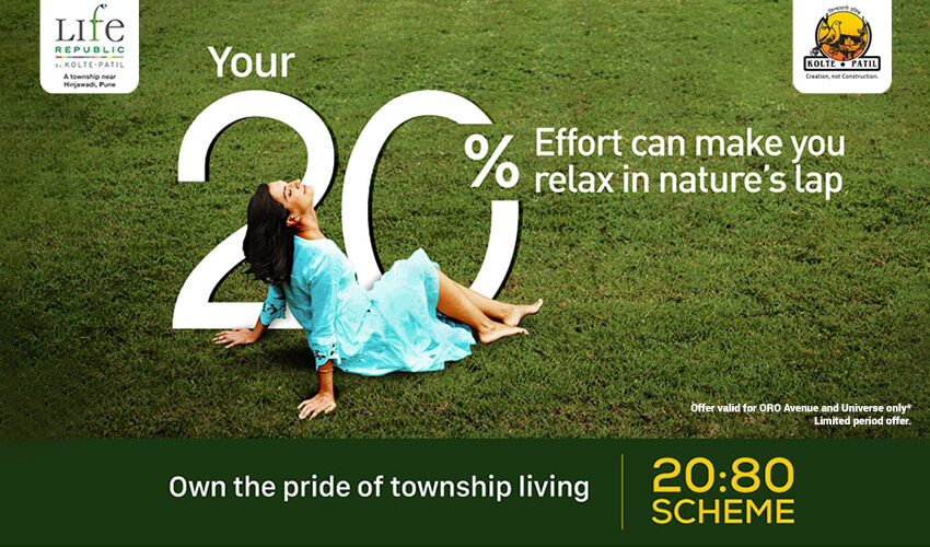 Own the pride of Township Living at Life Republic, Pay 20% Now and 80% on Possession*