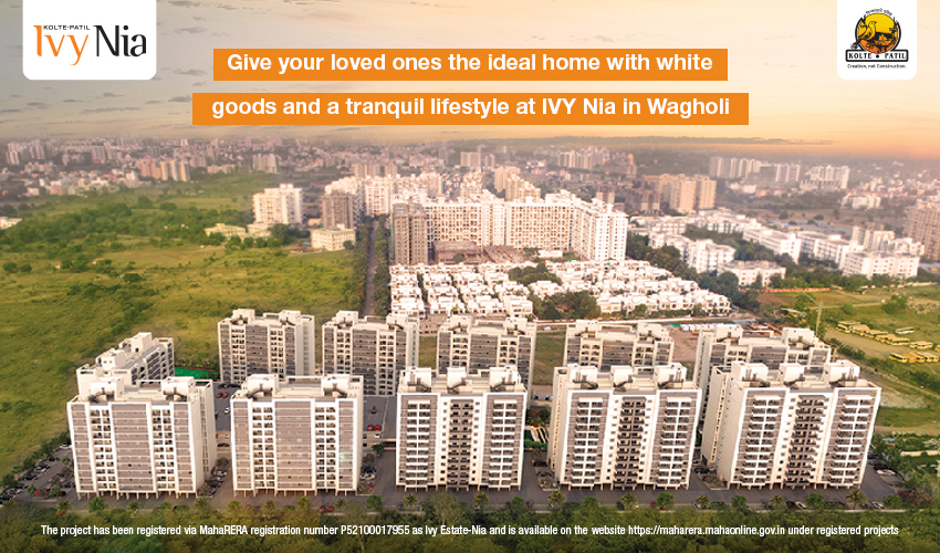 Give your loved ones the ideal home with white goods and a tranquil lifestyle at IVY Nia by Kolte Patil in Wagholi, Pune